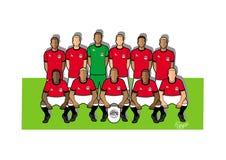 Equipo de fútbol 2018 de Egipto Imagen de archivo libre de regalías