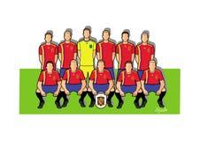 Equipo de fútbol 2018 de España Imágenes de archivo libres de regalías