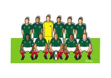 Equipo de fútbol 2018 de México Imagenes de archivo