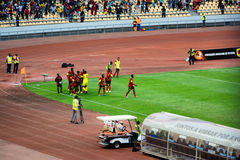 Equipo de fútbol nacional angolano Foto de archivo