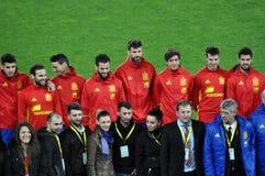 Equipo de fútbol nacional de España durante una sesión de foto en el st Fotografía de archivo