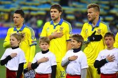Equipo de fútbol nacional de Ucrania Fotografía de archivo libre de regalías