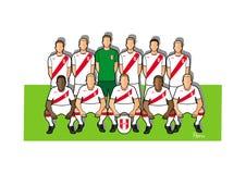 Equipo de fútbol 2018 de Perú Foto de archivo libre de regalías