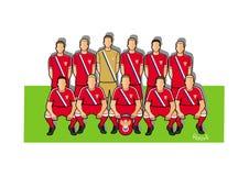 Equipo de fútbol 2018 de Rusia Imagen de archivo libre de regalías