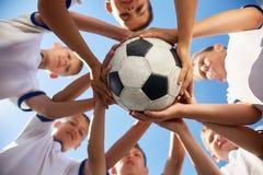 Equipo de fútbol unido Fotos de archivo