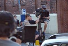 Equipo de filmación Serial criminal ` Del krawedzi del Na del ` fotos de archivo