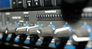 Equipo de grabación de los sonidos (equipo de los media) Foto de archivo