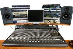 Equipo de grabación del estudio Imagen de archivo libre de regalías