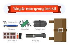 Equipo de herramienta de la reparación de la bici Fotos de archivo