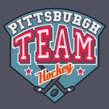 Equipo de hockey de Pittsburgh Imágenes de archivo libres de regalías