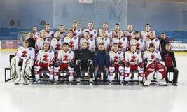 Equipo de hockey del hielo Imágenes de archivo libres de regalías