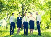 Equipo de hombres de negocios verdes fotografía de archivo libre de regalías