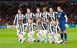 Equipo de Juventus Imagen de archivo libre de regalías