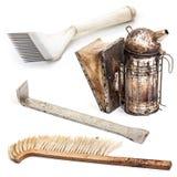 Equipo de la apicultura imagen de archivo libre de regalías