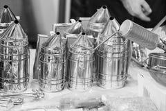 Equipo de la apicultura Fotos de archivo libres de regalías