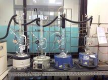 Equipo de la destilación del solvente orgánico Fotos de archivo