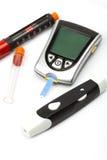 Equipo de la diabetes Fotos de archivo libres de regalías