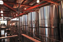 Equipo de la elaboración de vino Imagen de archivo libre de regalías