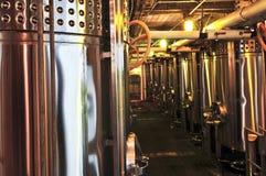 Equipo de la elaboración de vino Imagenes de archivo