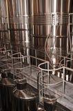 Equipo de la elaboración de vino Fotografía de archivo libre de regalías
