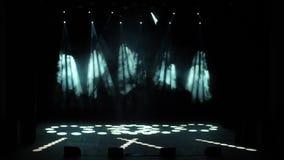 Equipo de la etapa de iluminación almacen de metraje de vídeo