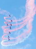 Equipo de la exhibición de RAF Falcons Parachute Fotografía de archivo