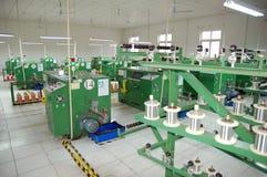 Equipo de la fábrica de la electrónica Imágenes de archivo libres de regalías