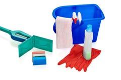 Equipo de la limpieza para la casa Imagen de archivo libre de regalías