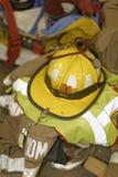 Equipo de la lucha contra el fuego Imagen de archivo libre de regalías