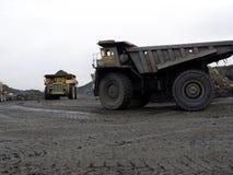 Equipo de la mina para la explotación del cabón foto de archivo libre de regalías