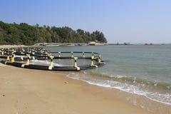 Equipo de la natación de la playa Fotos de archivo libres de regalías