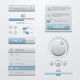 Equipo de la plantilla de los elementos del diseño de interfaz de usuario. Para A Fotografía de archivo libre de regalías
