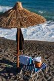 Equipo de la playa Foto de archivo libre de regalías