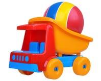 Equipo de la playa con el coche y la bola del juguete Fotos de archivo libres de regalías