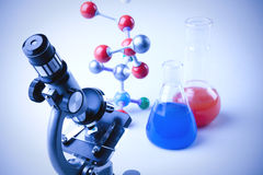 Equipo de la química Foto de archivo libre de regalías