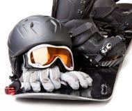 Equipo de la snowboard Fotos de archivo libres de regalías