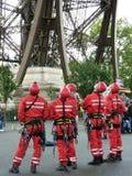 Equipo de la torre Eiffel Imagen de archivo libre de regalías