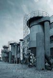 Equipo de la tubería en una fábrica Fotos de archivo