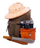 Equipo de la vendimia para los bosquimanos. Imagenes de archivo