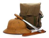 Equipo de la vendimia para los viajeros. Fotos de archivo libres de regalías