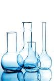 Equipo de laboratorio de cristal Imagen de archivo libre de regalías