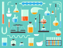 Equipo de laboratorio químico Fotos de archivo libres de regalías