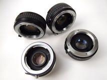 Equipo de las lentes de la foto Foto de archivo