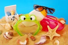 Equipo de las vacaciones de verano Imagen de archivo libre de regalías