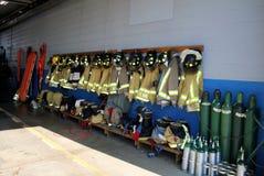 Equipo de los bomberos fotografía de archivo