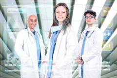 Equipo de los doctores Fotografía de archivo libre de regalías