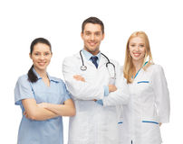 Equipo de los jóvenes o grupo de doctores Fotografía de archivo libre de regalías