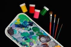 Equipo de los pintores Fotos de archivo libres de regalías