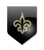 Equipo de los santos de New Orleans stock de ilustración