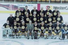 Equipo de los veteranos de los Boston Bruins Imagen de archivo libre de regalías